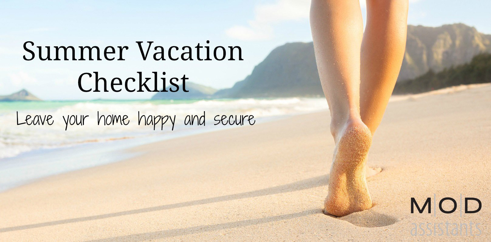 summer vacation checklist mod personal assistants